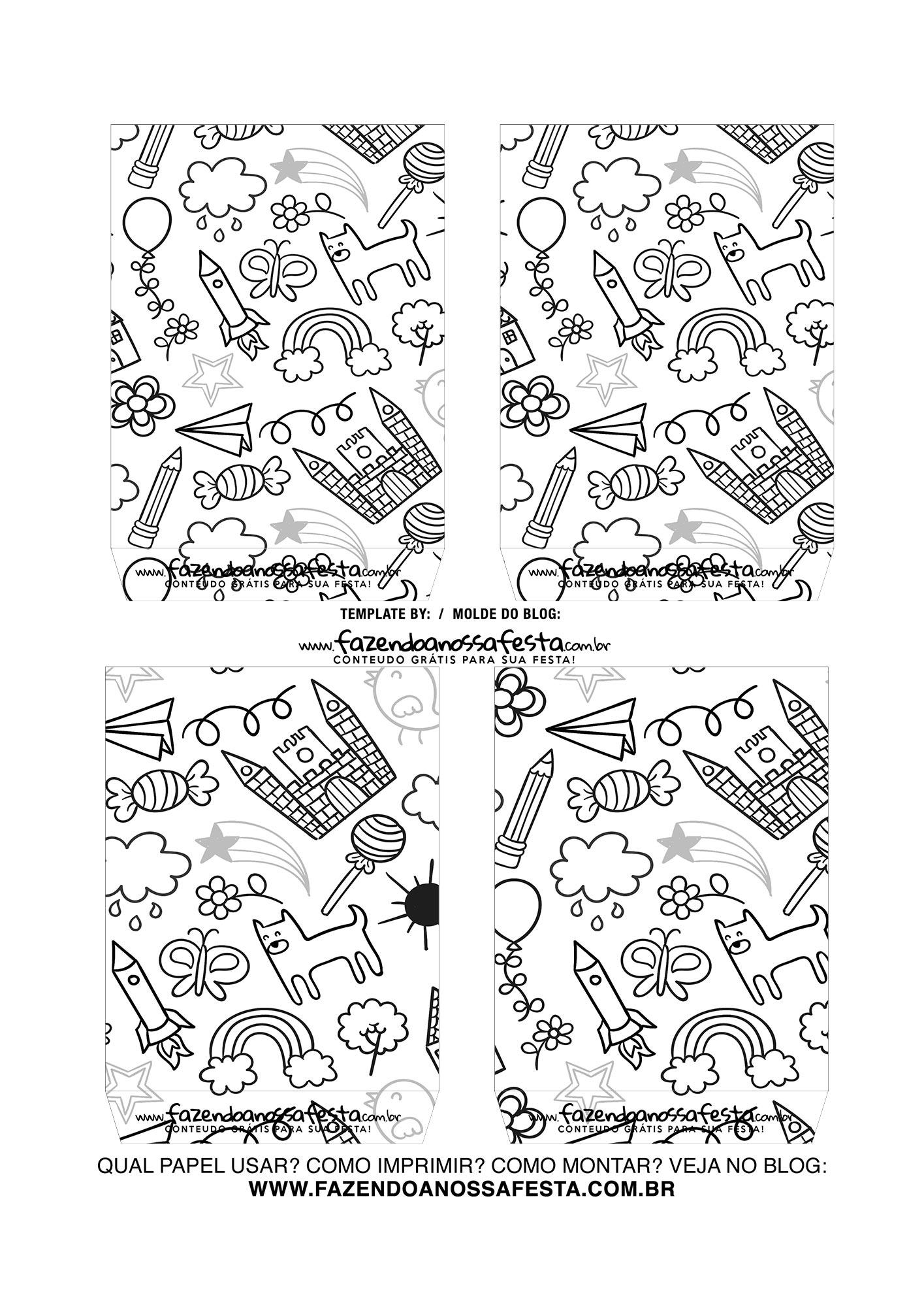 Caixa Explosiva Dia das Criancas para colorir 4