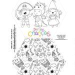 Caixa Explosiva Dia das Criancas para colorir criancas