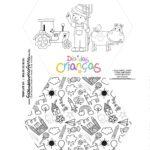 Caixa Explosiva Dia das Criancas para colorir fazendinha