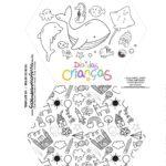 Caixa Explosiva Dia das Criancas para colorir fundo do mar