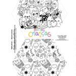 Caixa Explosiva Dia das Criancas para colorir monstrinhos