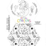 Caixa Explosiva Dia das Criancas para colorir sereia