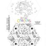 Caixa Explosiva Dia das Criancas para colorir unicornio