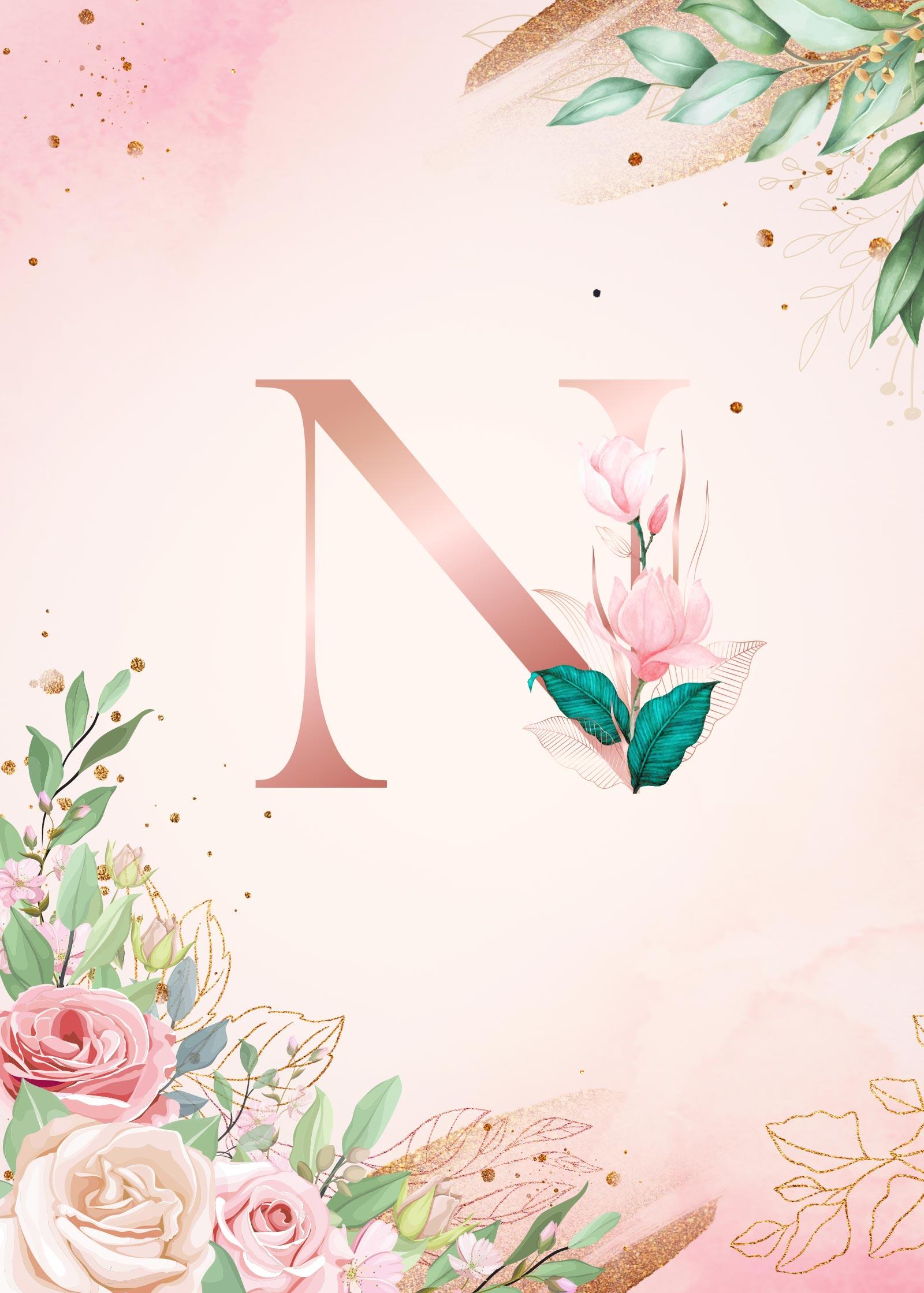 Capa Planner Floral Inicial N