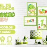Kit Quadrinhos Festa Dinossauro Baby
