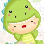 Kit Quadrinhos Festa Dinossauro Baby 1