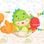 Kit Quadrinhos Festa Dinossauro Baby 2
