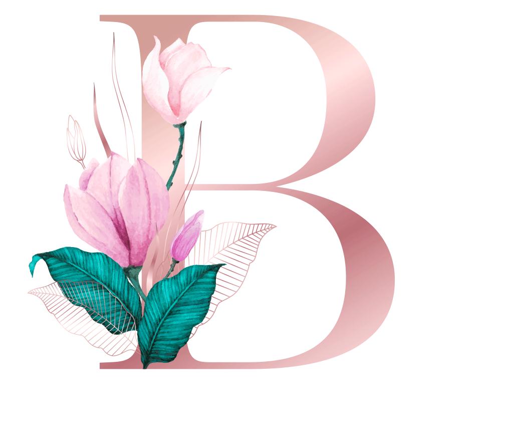 Letra com Flor B