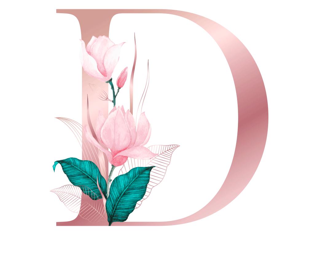 Letra com Flor H