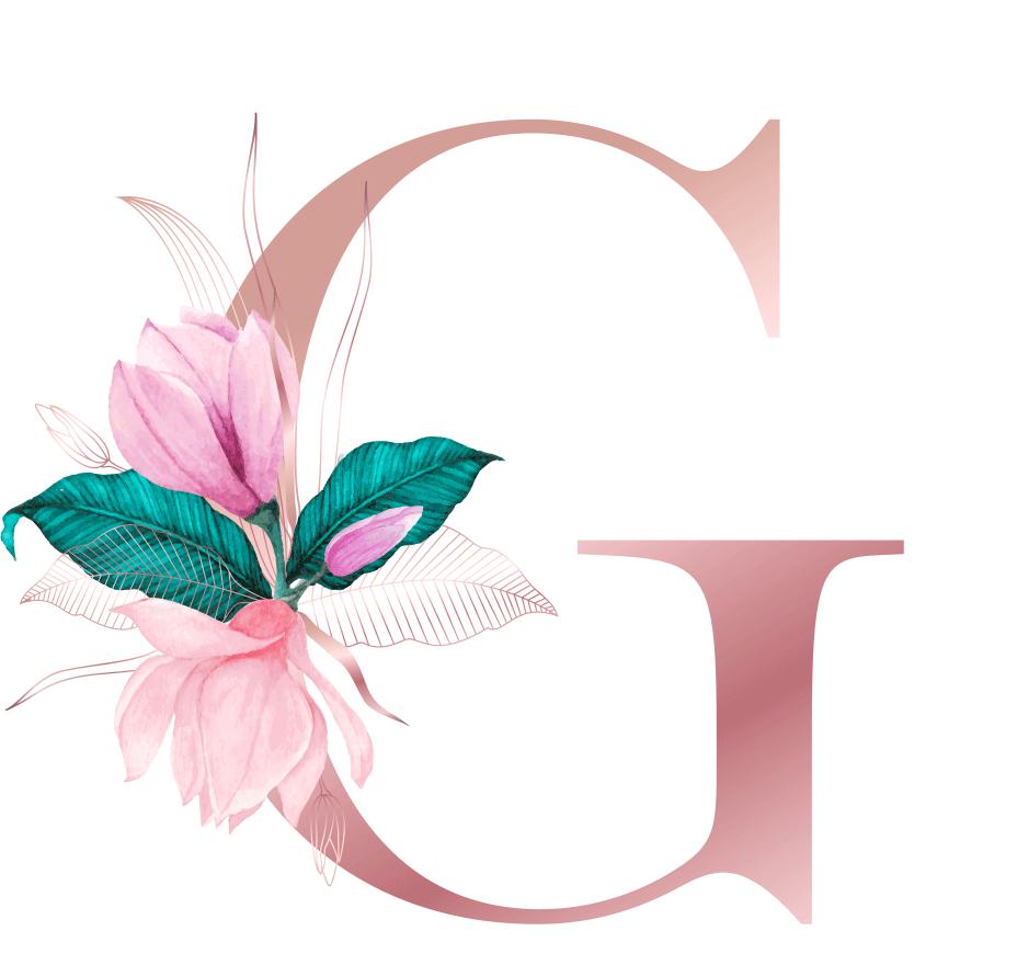 Letra com Flor G
