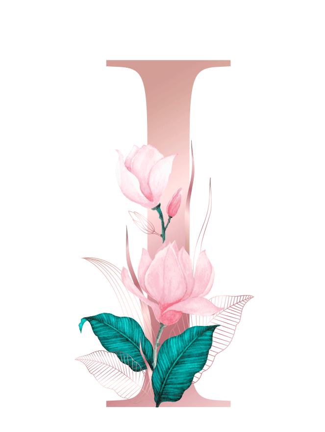 Letra com Flor I