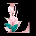 Letra com Flor L