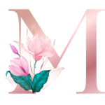Letra com Flor M
