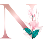 Letra com Flor N