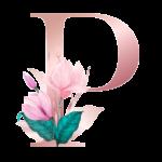 Letra com Flor P