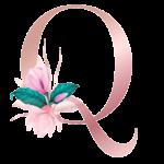Letra com Flor Q