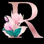 Letra com Flor R