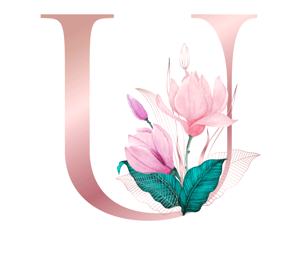 Letra com Flor U