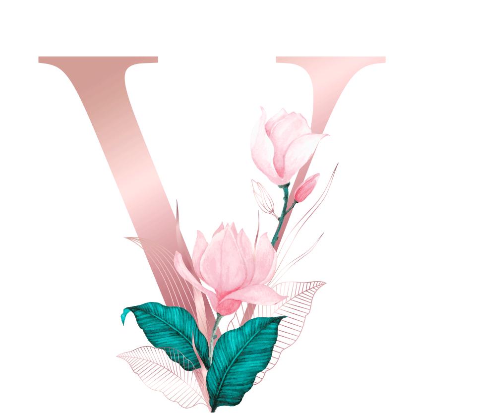 Letra com Flor V