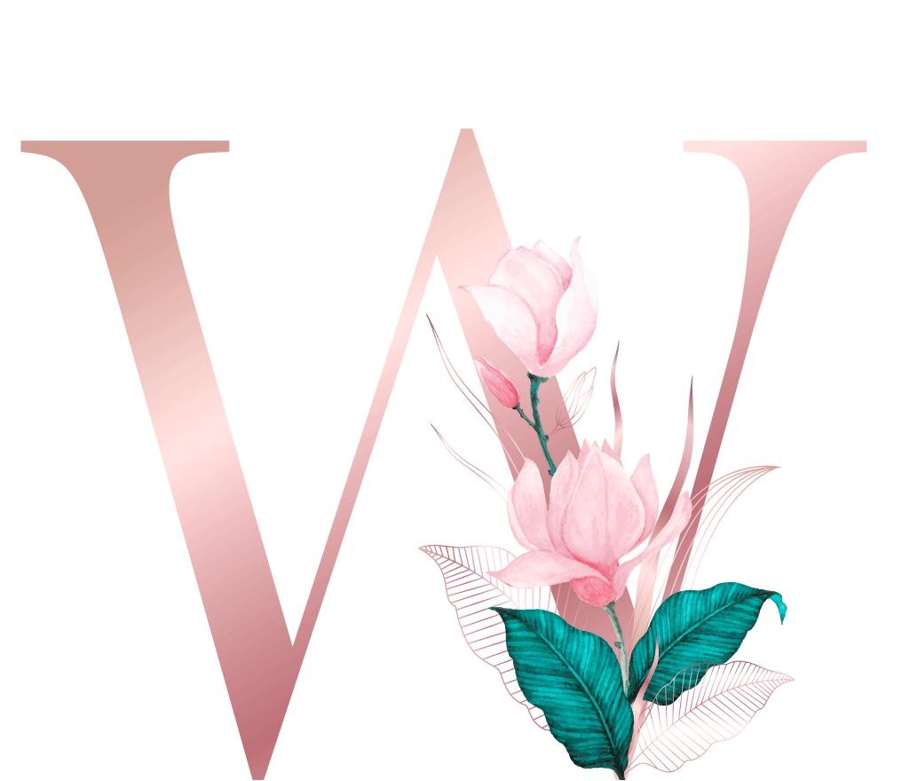 Letra com Flor W