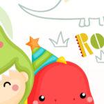 Painel Festa Dinossauro Baby 7