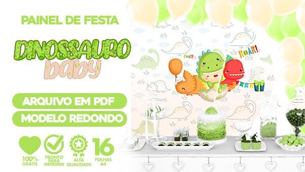Painel Festa Dinossauro Baby