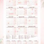 Planner 2021 Floral com Inicial Calendario 2021