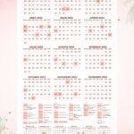Planner 2021 Floral com Inicial Calendario 2023