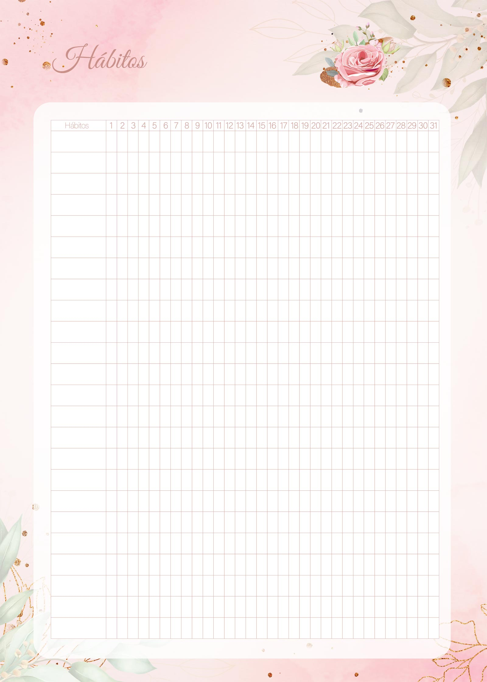 Planner 2021 Floral com Inicial Habitos