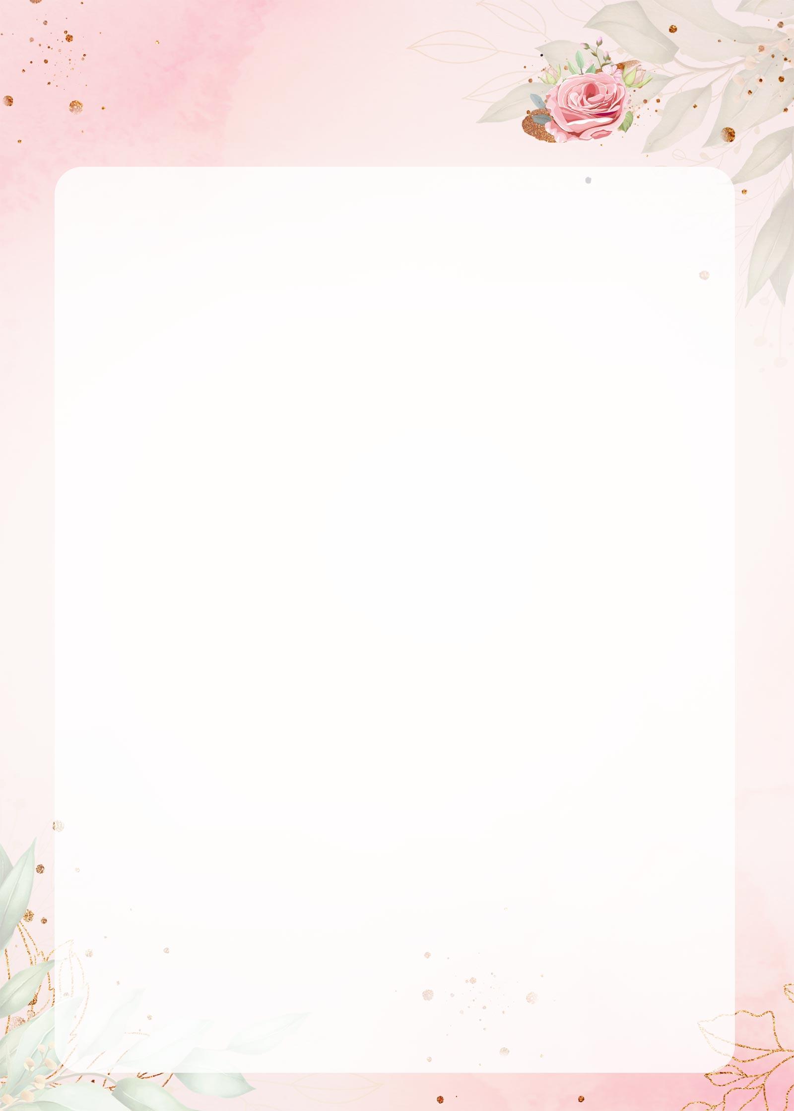 Planner 2021 Floral com Inicial Molde em Branco