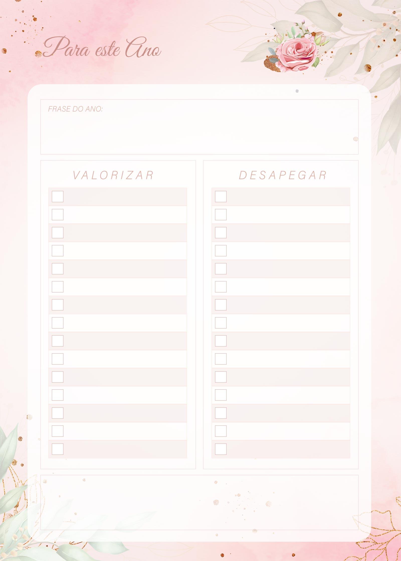 Planner 2021 Floral com Inicial Para Este Ano