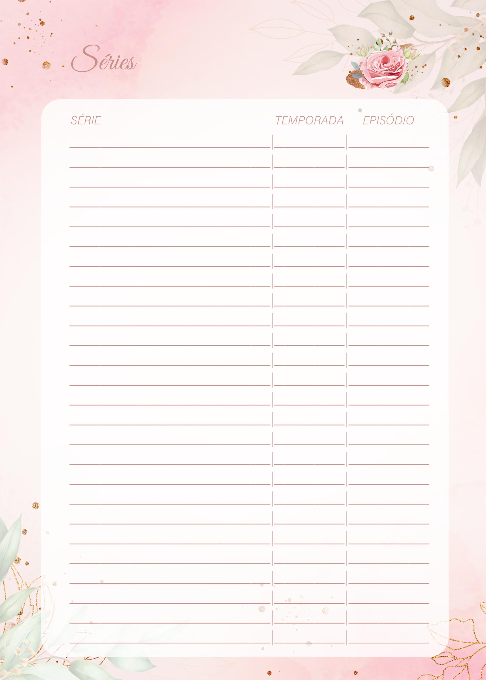 Planner 2021 Floral com Inicial Series