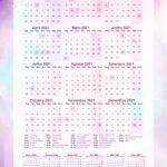 Planner Colorido Calendario 2021