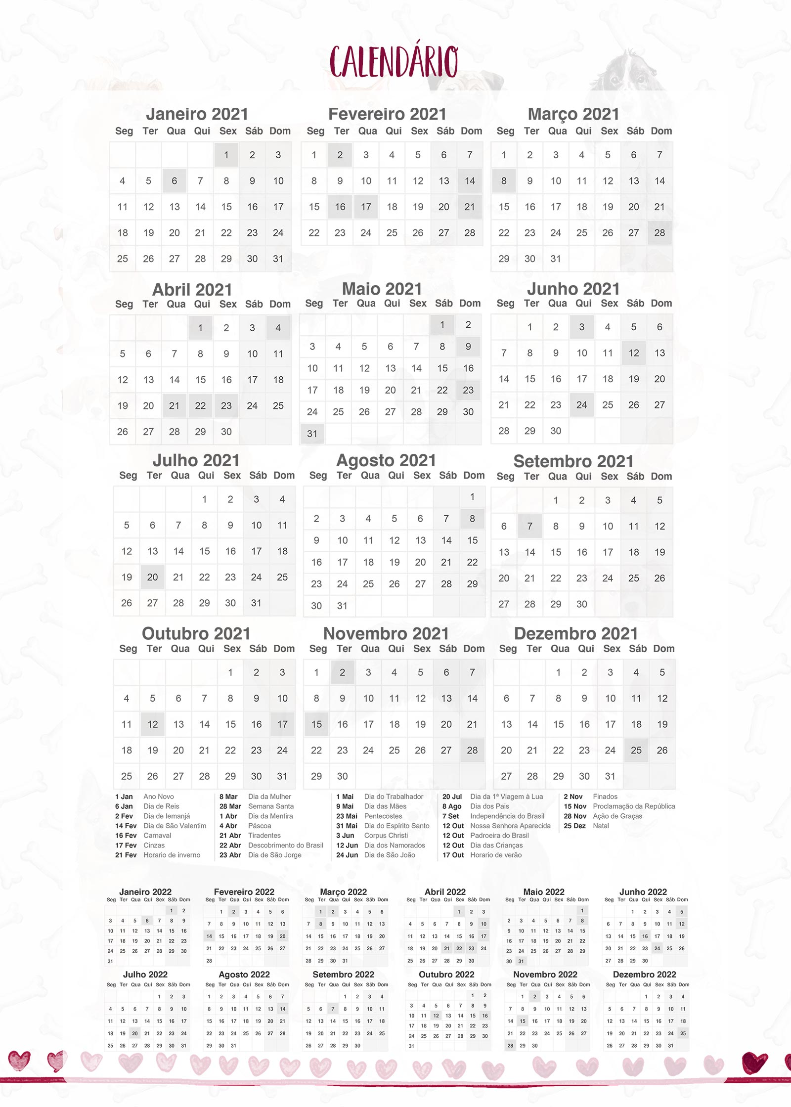 Planner Dogs Calendario 2021