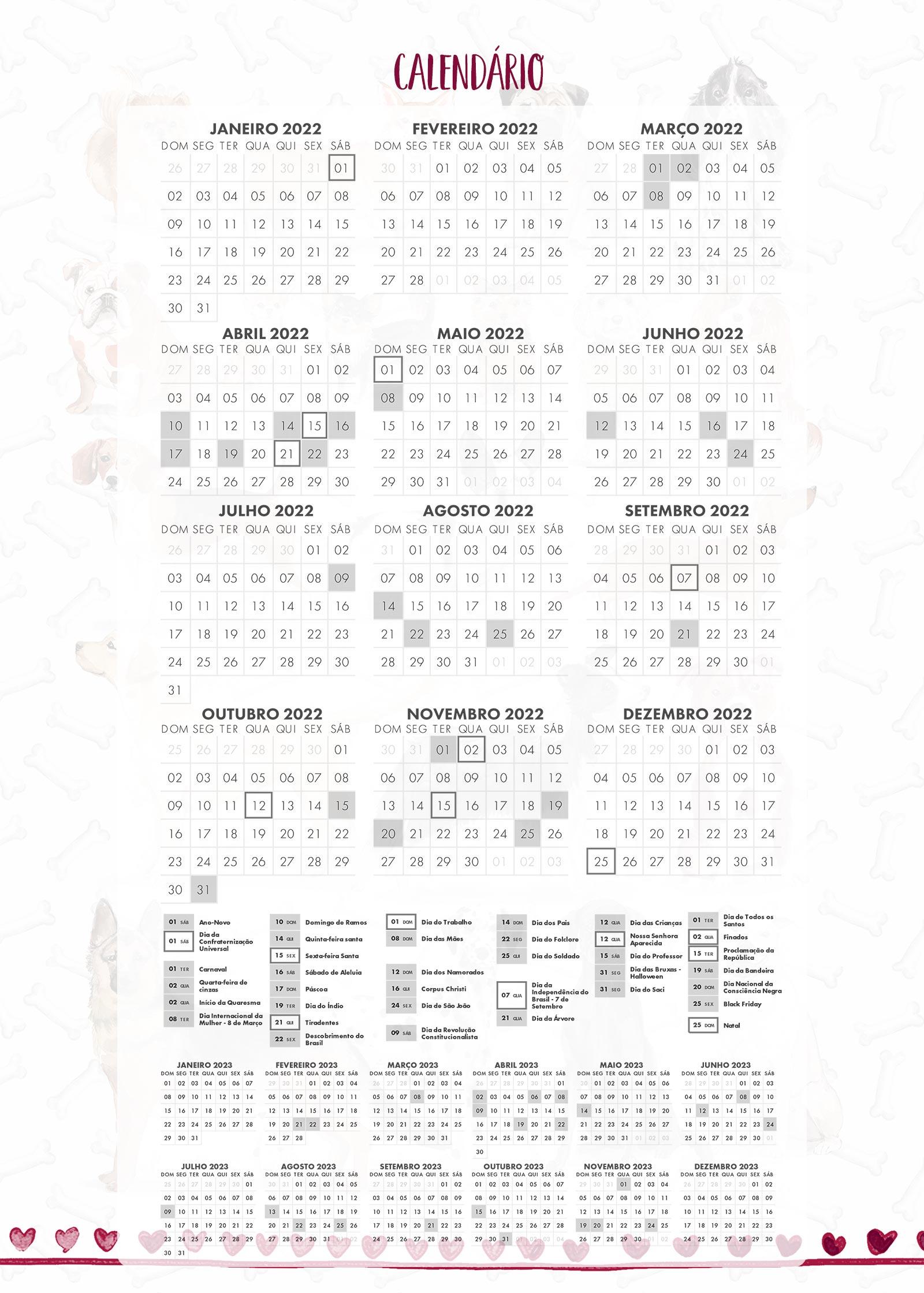 Planner Dogs Calendario 2022
