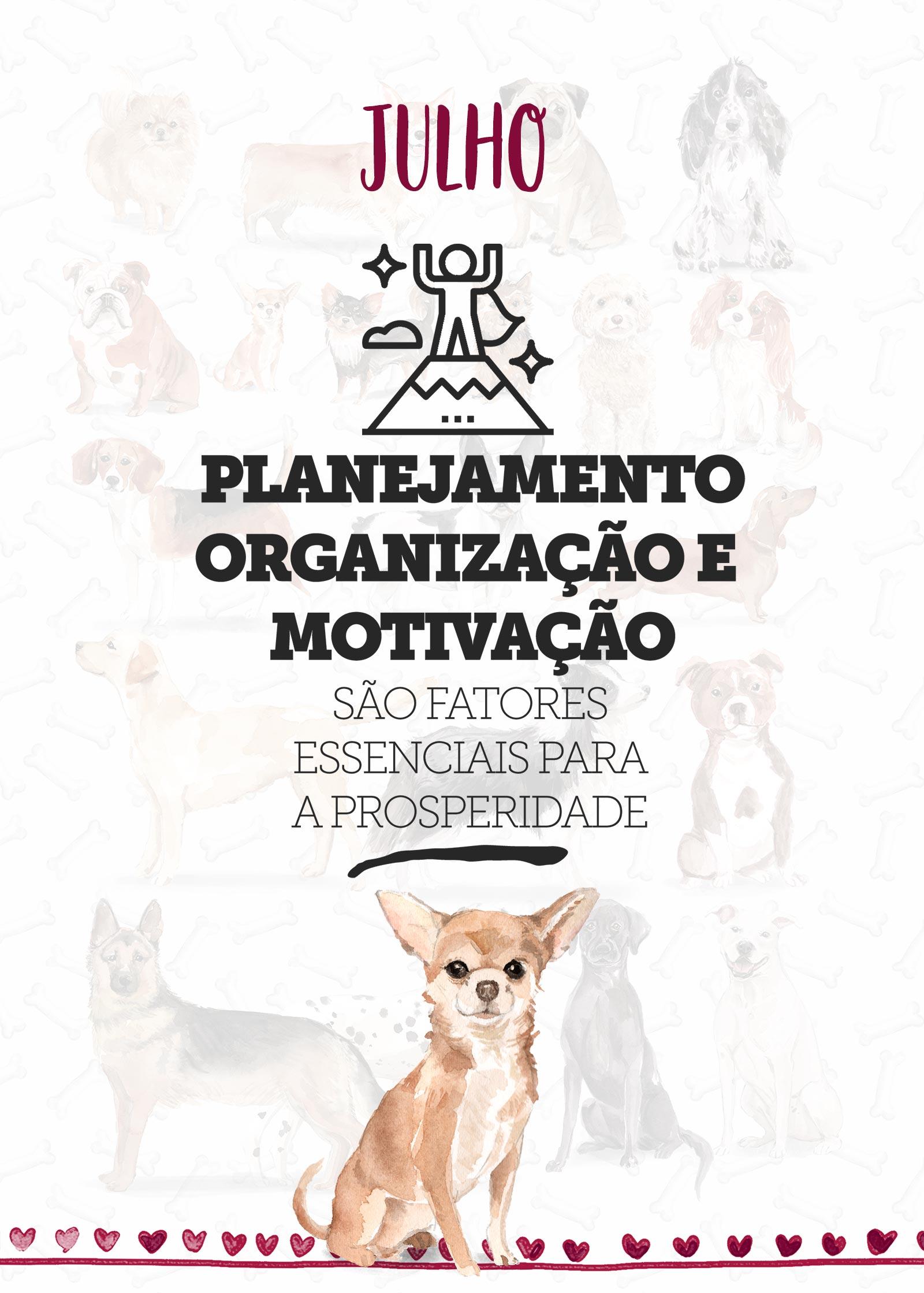 Planner Dogs Julho Capa