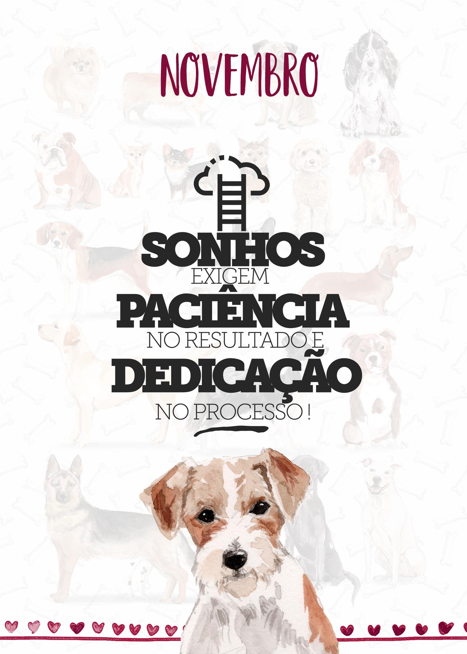 Planner Dogs Novembro Capa