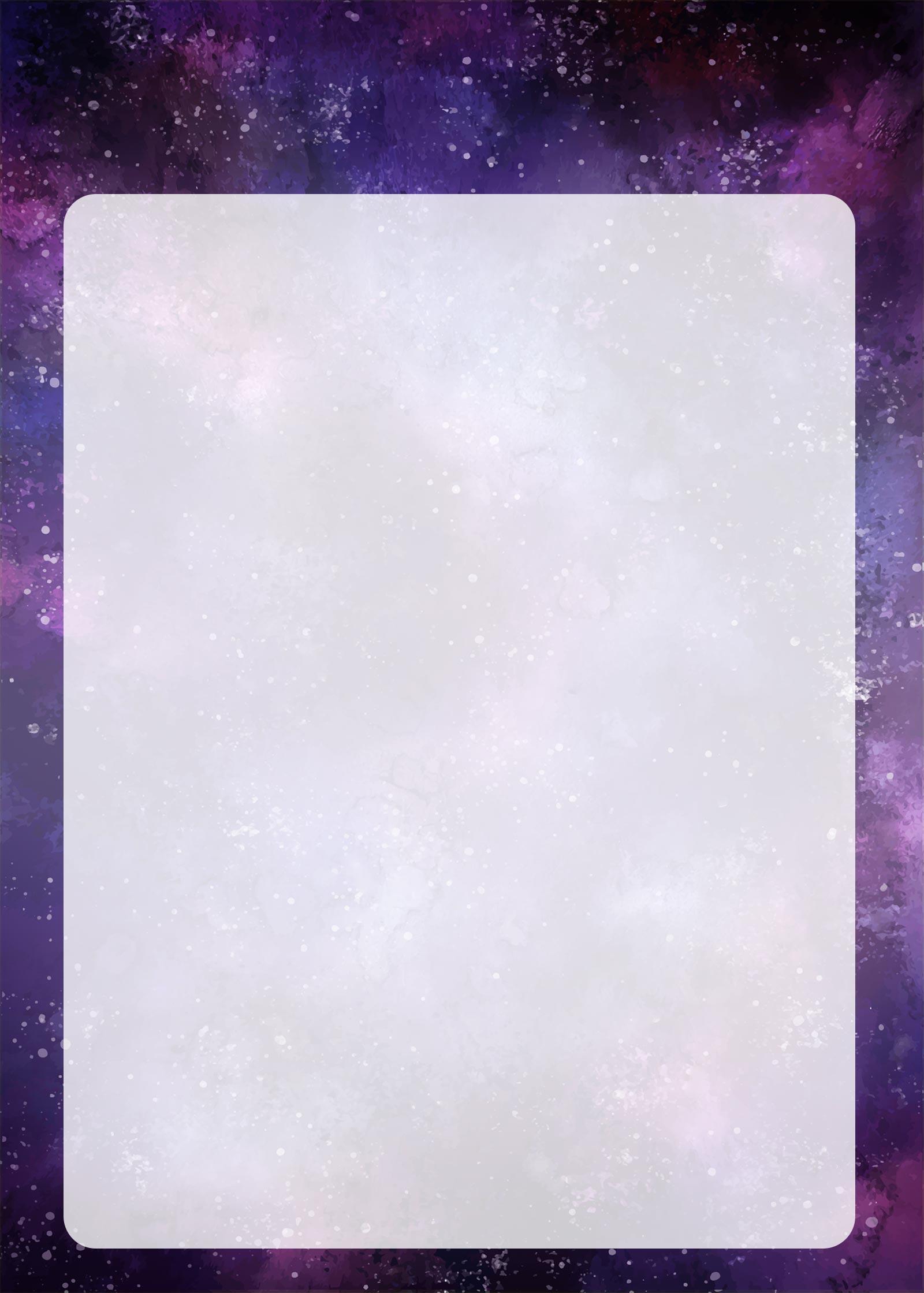 Planner Galaxia Lilas Molde em Branco