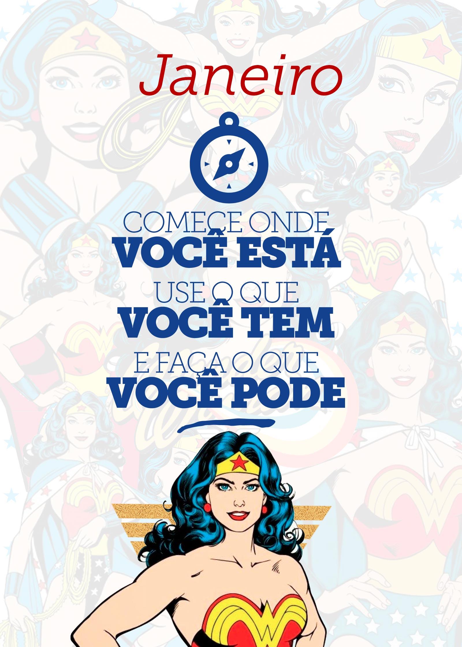 Planner Mulher Maravilha Janeiro Capa