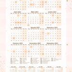 Planner Rose Gold Calendario 2021