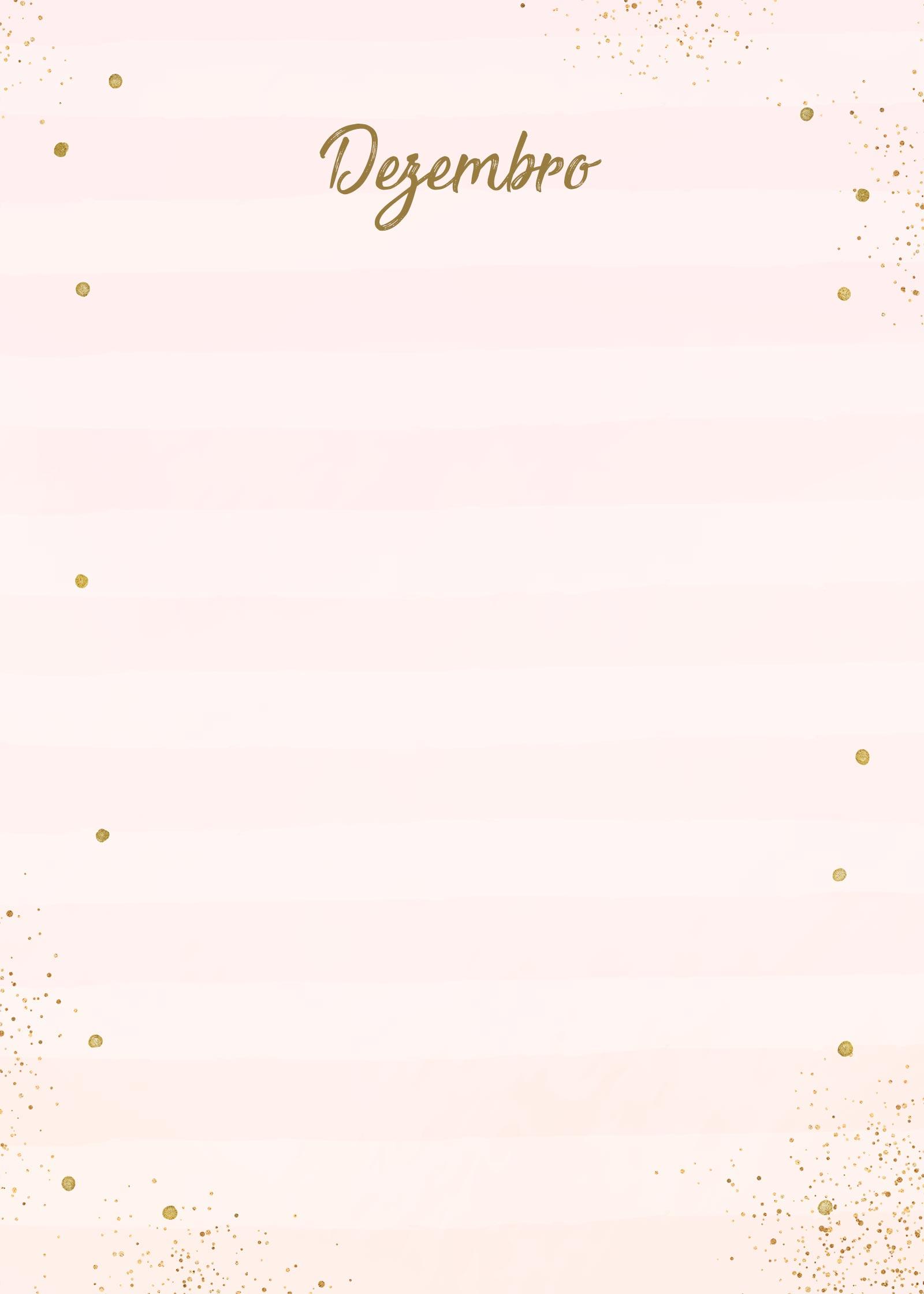 Planner Rose Gold Dezembro Capa