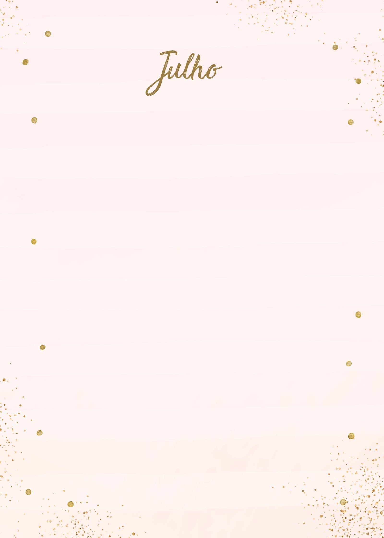 Planner Rose Gold Julho Capa