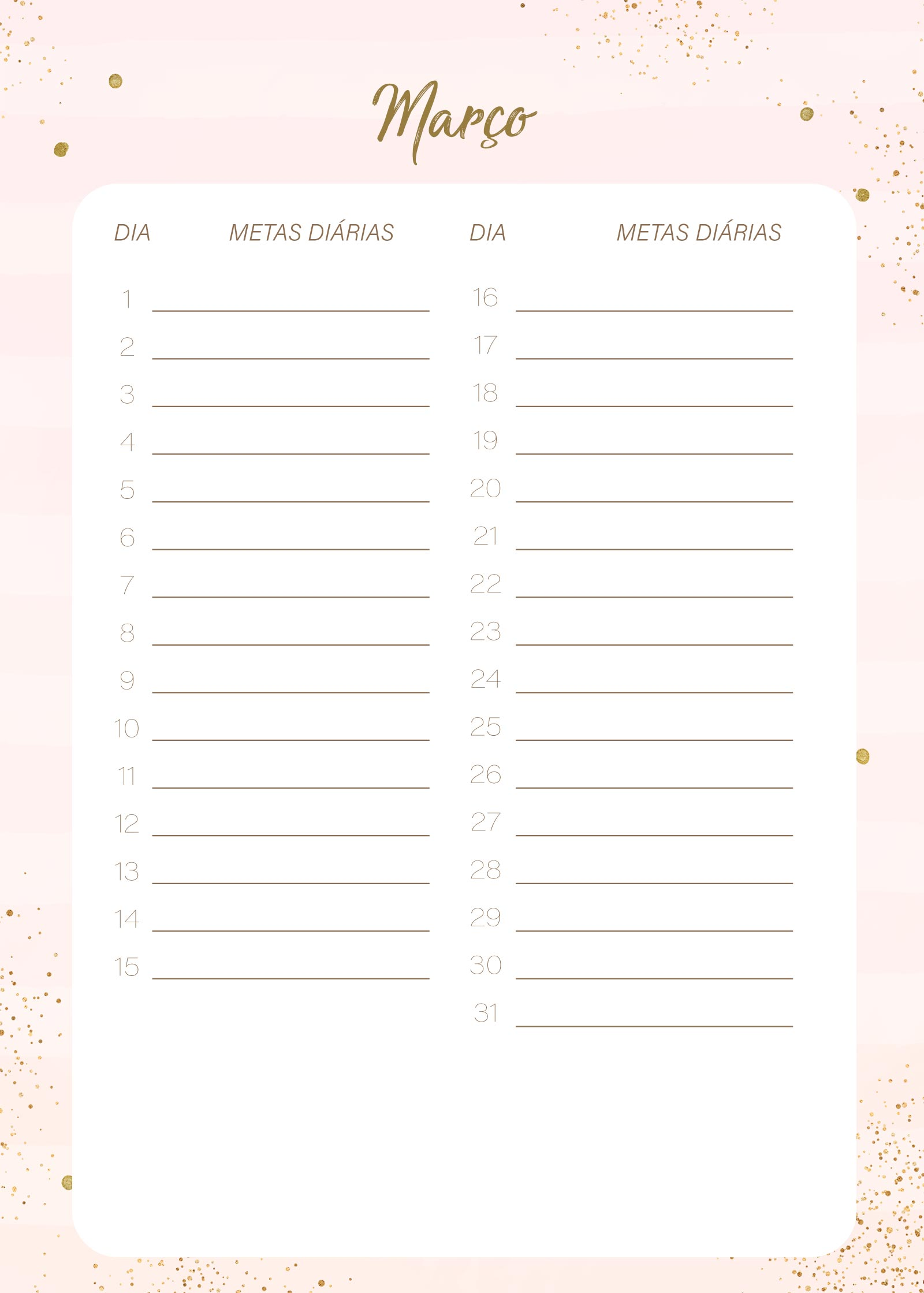 Planner Rose Gold Marco