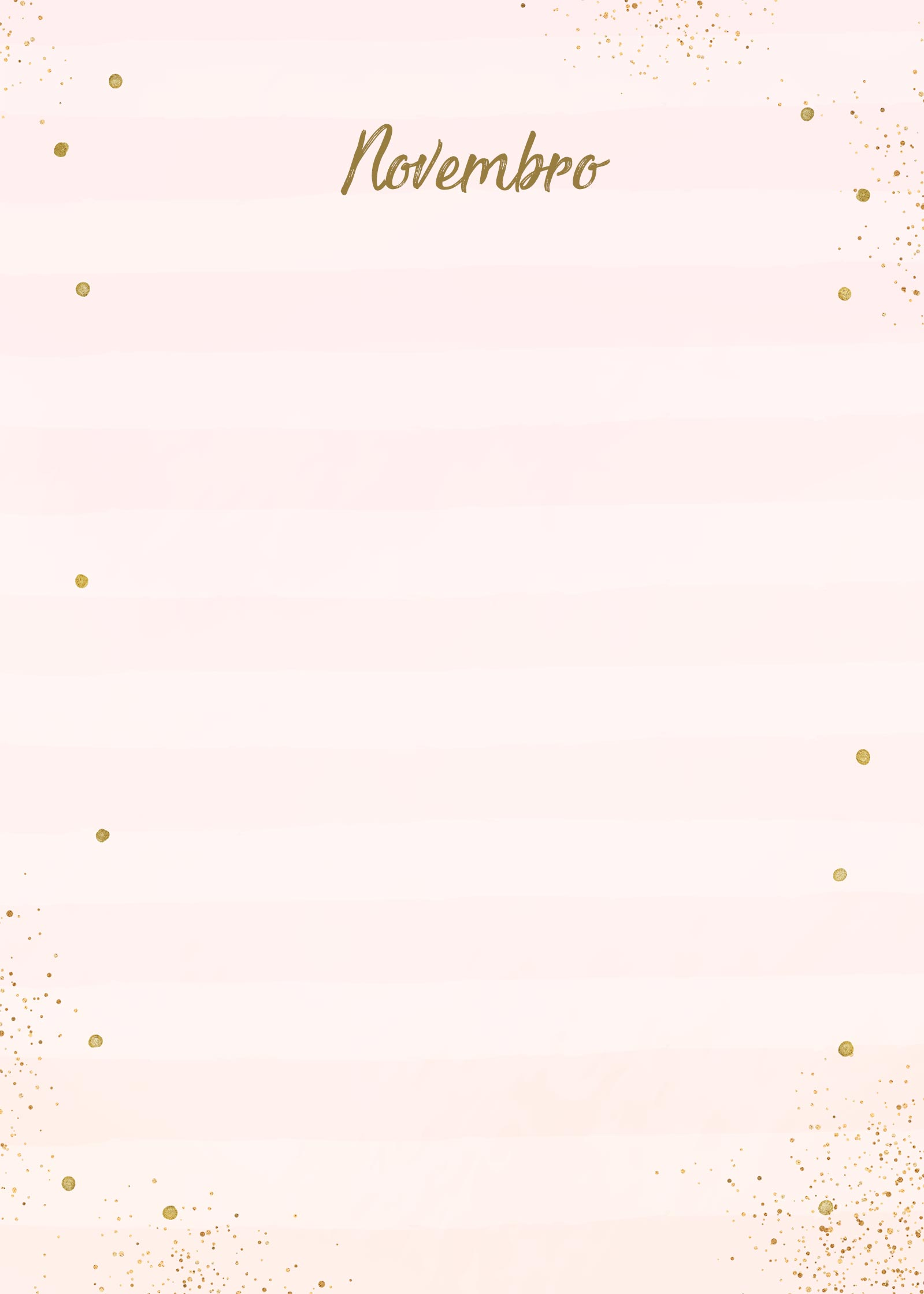 Planner Rose Gold Novembro Capa
