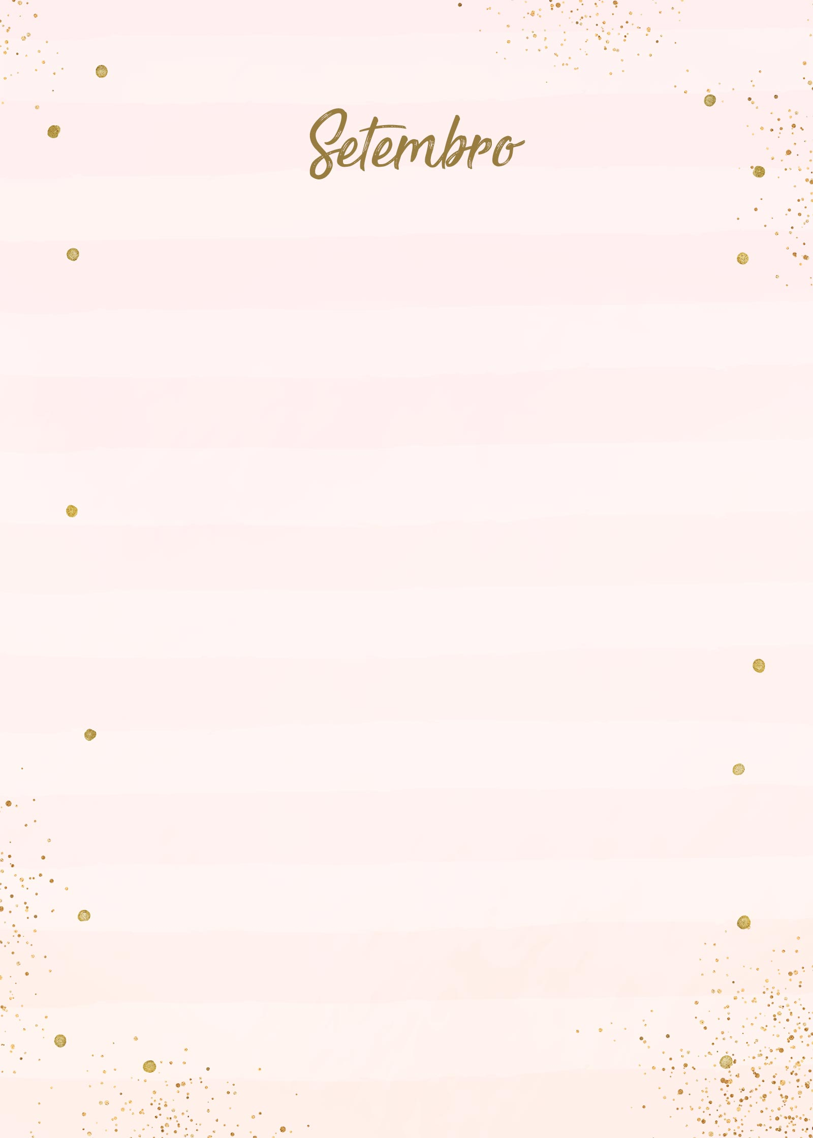 Planner Rose Gold Setembro Capa