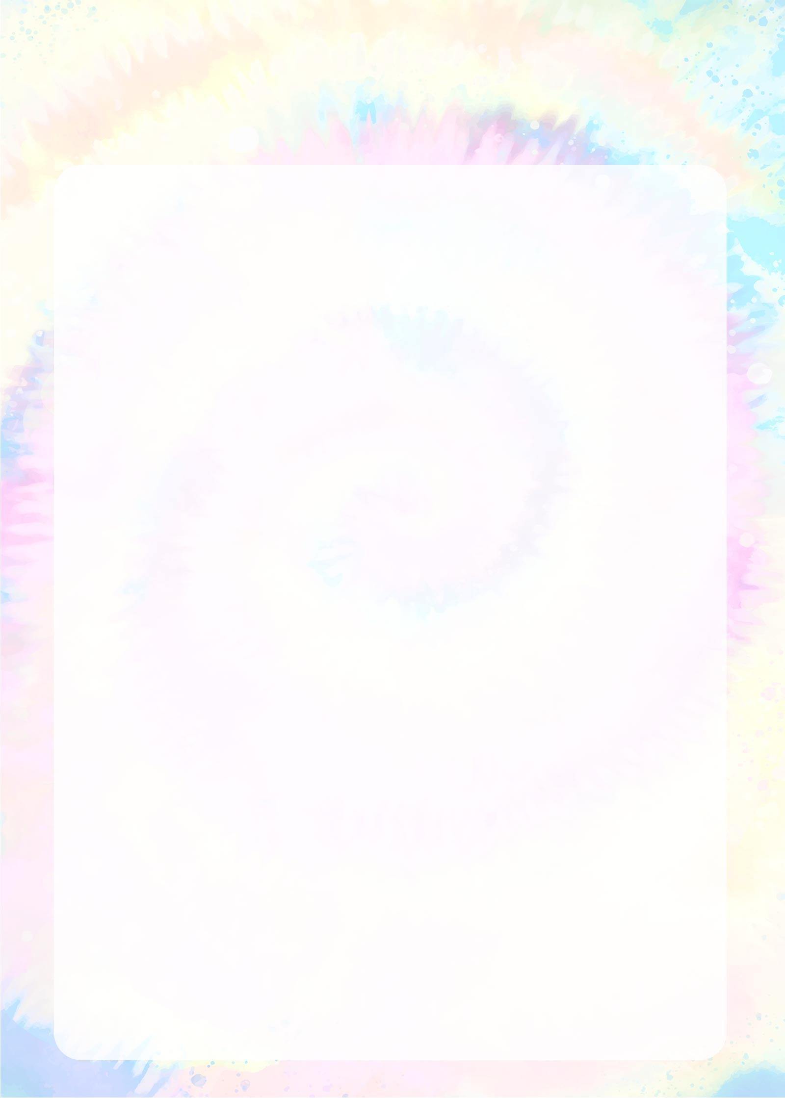 Planner Tie Dye Molde em Branco