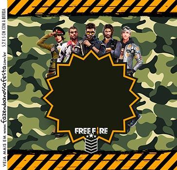 Adesivo Quadrado Free Fire