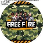Adesivo redondo Free Fire