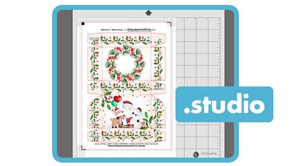 Arquivo de Corte Caixa Doces Natal