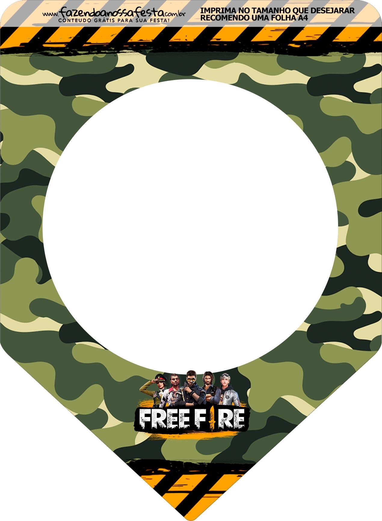 Bandeirinha Varalzinho Free Fire